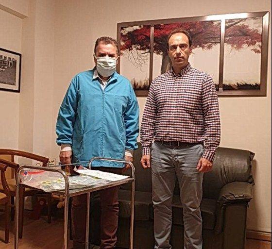 Δωρεά χειροποίητων υφασμάτινων μασκών του Π. Π. Συλλόγου Ανεμομύλου στο Γηροκομείο