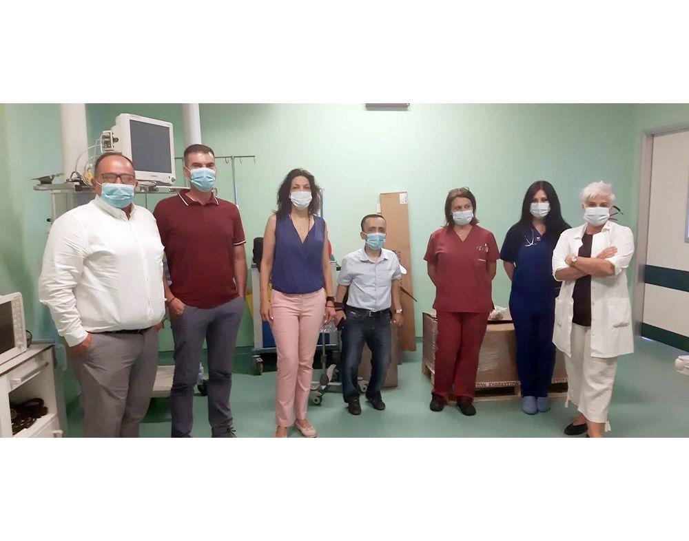 Δωρεά εξοπλισμού για την ΜΕΘ του Νοσοκομείου Κέρκυρας από την IKOS