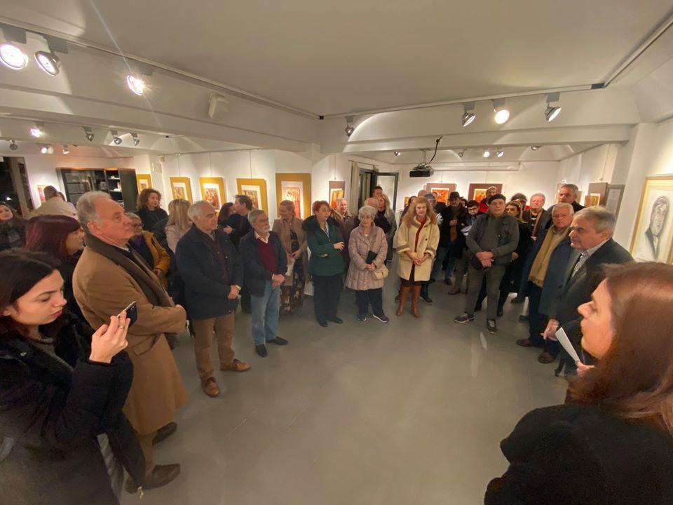 Εγκαινιάστηκε η θεματική έκθεση «Υαλογραφίες» του Σπύρου  Αλαμάνου στην Κερκυραϊκή Πινακοθήκη