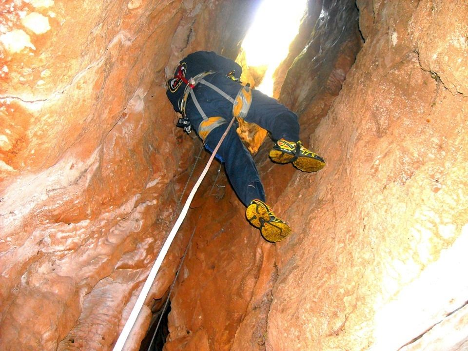 Special Search and Rescue Team (EMED) - training exercise in Corfu caves