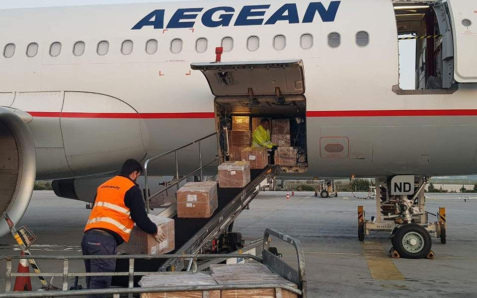 1.7m face masks and other health supplies arrive in Athens from China