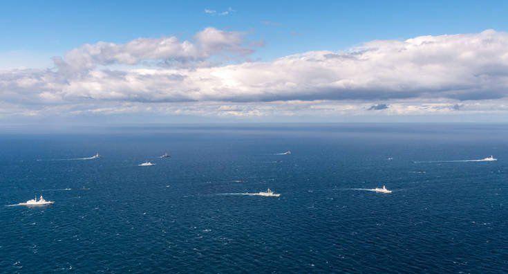 ΝΑΤΟϊκή αεροναυτική άσκηση βορείως της Κέρκυρας (ΦΩΤΟ)