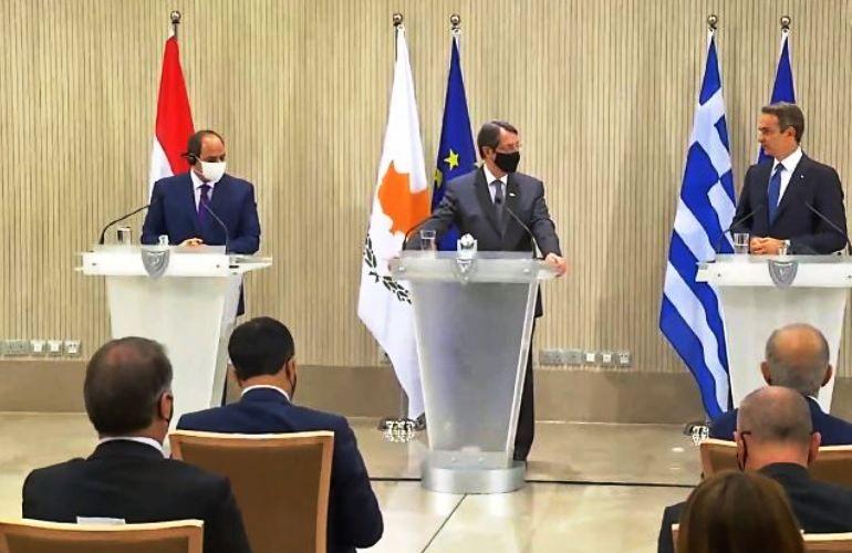 Καταδίκη από Ελλάδα-Κύπρο-Αίγυπτο της τουρκικής παραβατικότητας (video - photos)