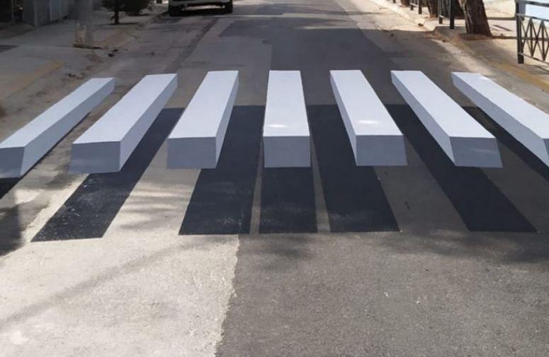 Απέκτησε -και- η Αθήνα 3D διαβάσεις πεζών - Η Κέρκυρα, πότε...; (video-photos)